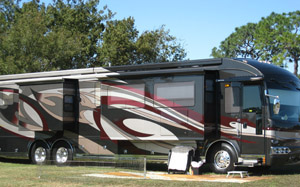 an RV at clerbrook resort